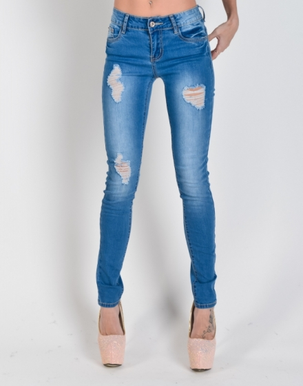 Джинсы Jeggings fit рваные